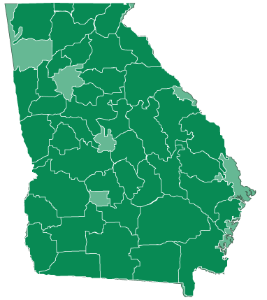Washington Georgia Map.Find An Emc Georgia Ga Sites